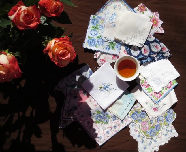 Vintage handkerchief giveaway