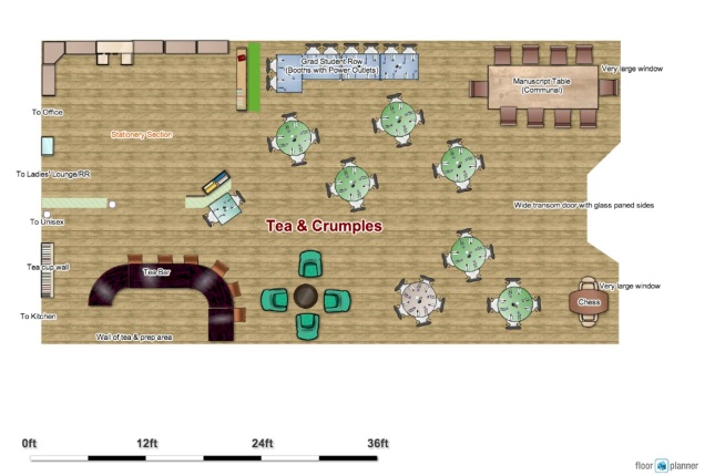 tea and stationery shop floor plan