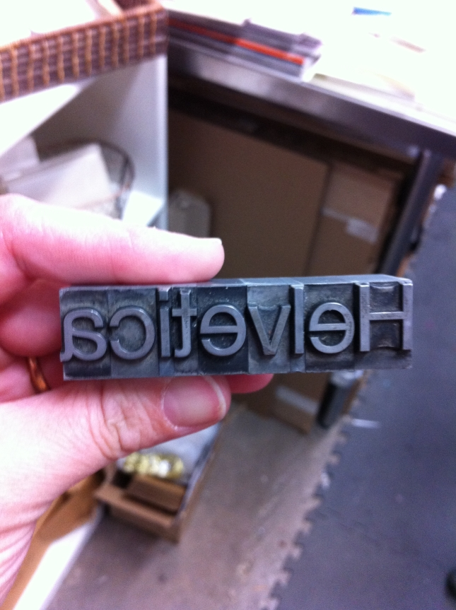 Hipsters worldwide, wipe that drool off your lip! Yes, this is real, actual Helvetica!