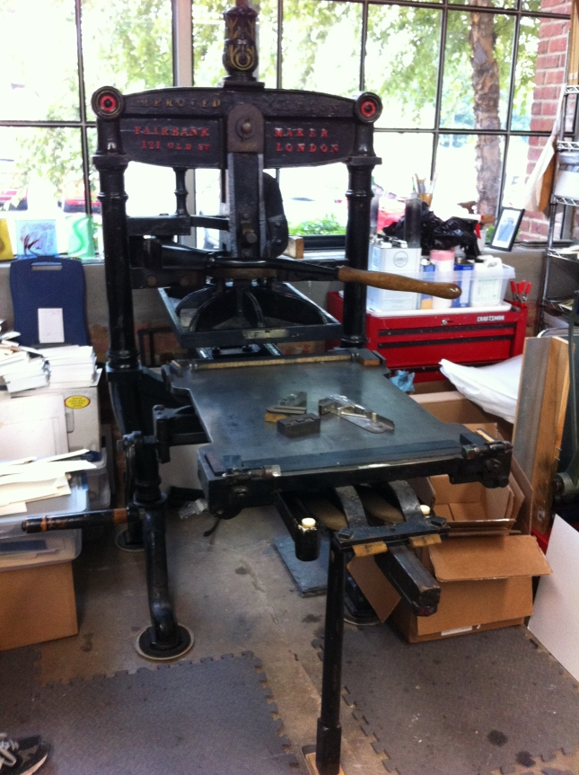 Artisan printer Brian Allen's c. 1850s press.