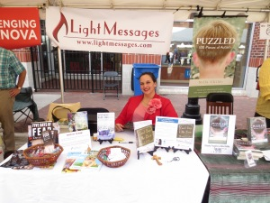 Here I am at the Bookmarks festival, ready to talk about my book, books, and miscellany. I loved meeting readers!