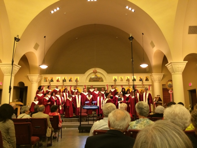 The Triangle Orthodox Chorale presented a concert of Sacred Orthodox Music of the Ecclesiastical Year at St. Barbara Greek Orthodox Church.