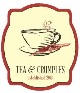 This is the logo I envision for the eponymous tea and stationery store in my book Tea and Crumples (Light Messages Publishers, fall 2015)