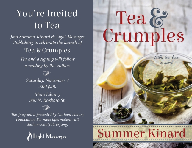 Join us for tea if you're in town!