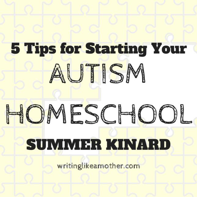 autism homeschool tips