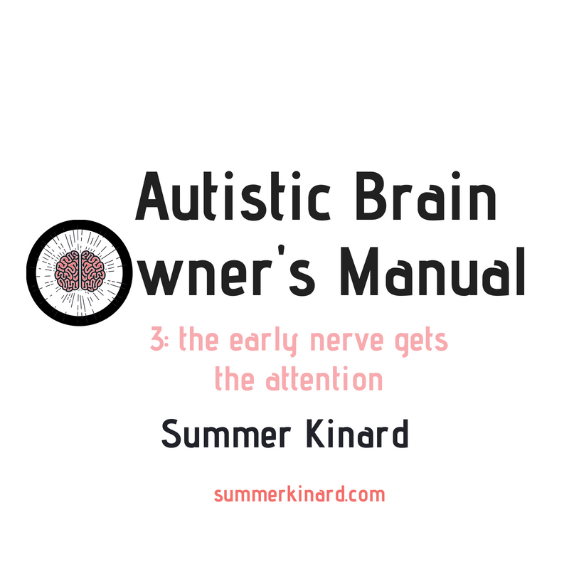 Autistic Brain Owner's Manual Lesson 3: The Early Nerve Gets the Attention