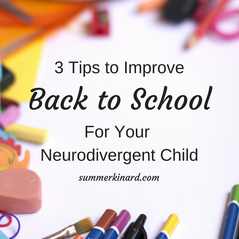3 Tips to Ease the Back to School Transition!