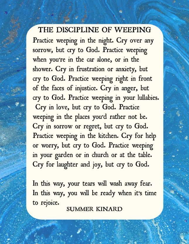 discipline of weeping