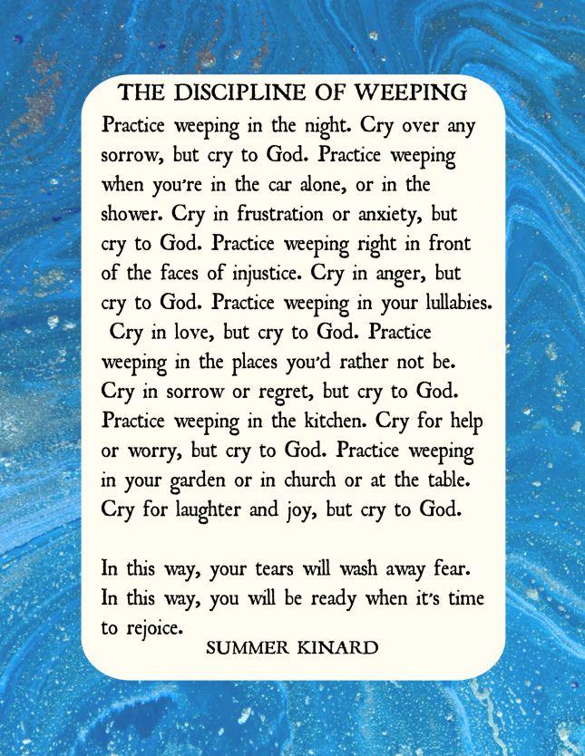 discipline of weeping